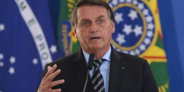 O presidente Jair Bolsonaro, participa do lançamento dos programas CODEX e SUPER.BR e do 8º no Palácio do Planalto.