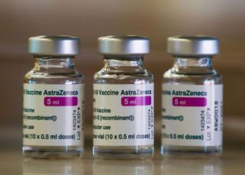 Doses of AstraZeneca's coronavirus disease (COVID-19) vaccine are seen, as Spain resumes vaccination with AstraZeneca shots after a temporary suspension, inside a COVID-19 vaccination centre at Wanda Metropolitano stadium, in Madrid, Spain, March 24, 2021. REUTERS/Sergio Perez